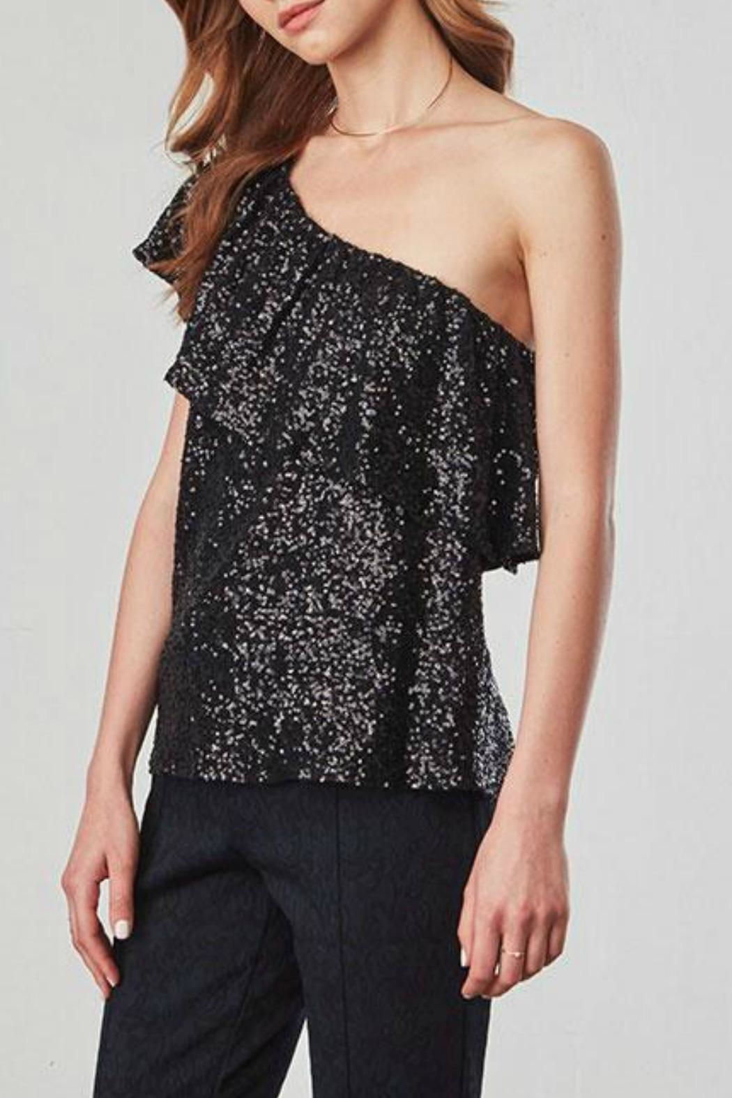 BB Dakota One Shoulder Sequin Top - Main Image