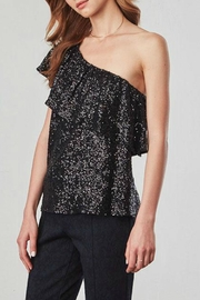 BB Dakota One Shoulder Sequin Top - Front cropped
