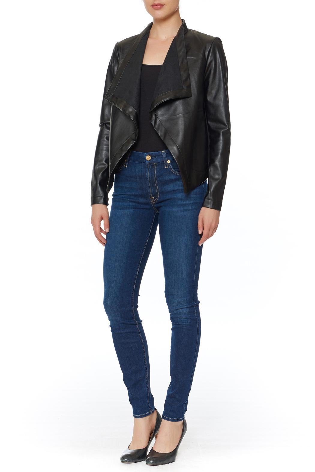 BB Dakota Peppin Draped Jacket - Front Cropped Image