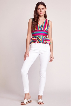 BB Dakota Rainbow Peplum Top - Alternate List Image