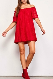 BB Dakota Red Lace Dress - Product Mini Image