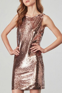 Shoptiques Product: Rose-Gold Sequin Dress