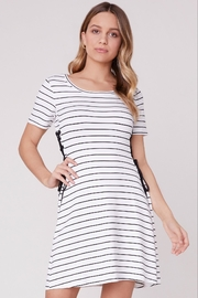 BB Dakota Stripe Lace-Up Dress - Product Mini Image