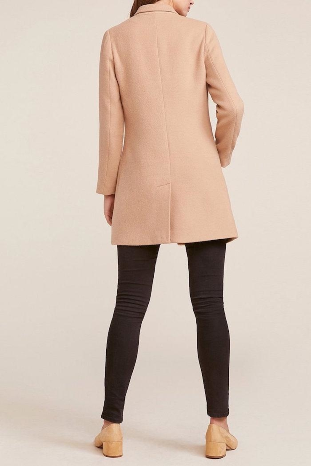 BB Dakota Twill Camel Coat - Side Cropped Image