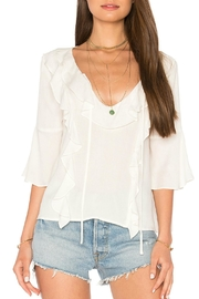 BB Dakota Ruffled V Neck Top - Product Mini Image
