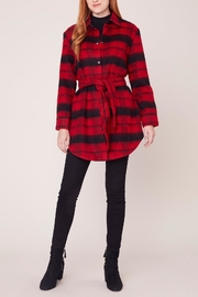 BB Dakota Woolly Plaid Caot - Front cropped