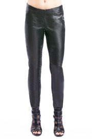 Shoptiques Product: Black Leather Leggings