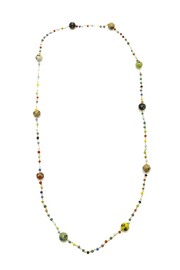 Vintage Glass Beads Bohemian Beaded Necklace - Product Mini Image