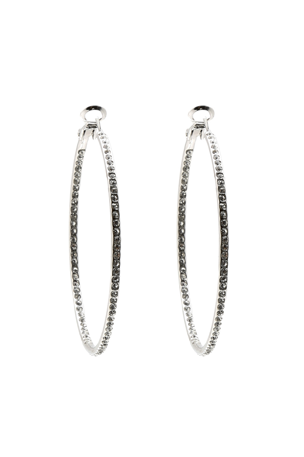 Talk of the Walk Silver Pave Hoop - Main Image