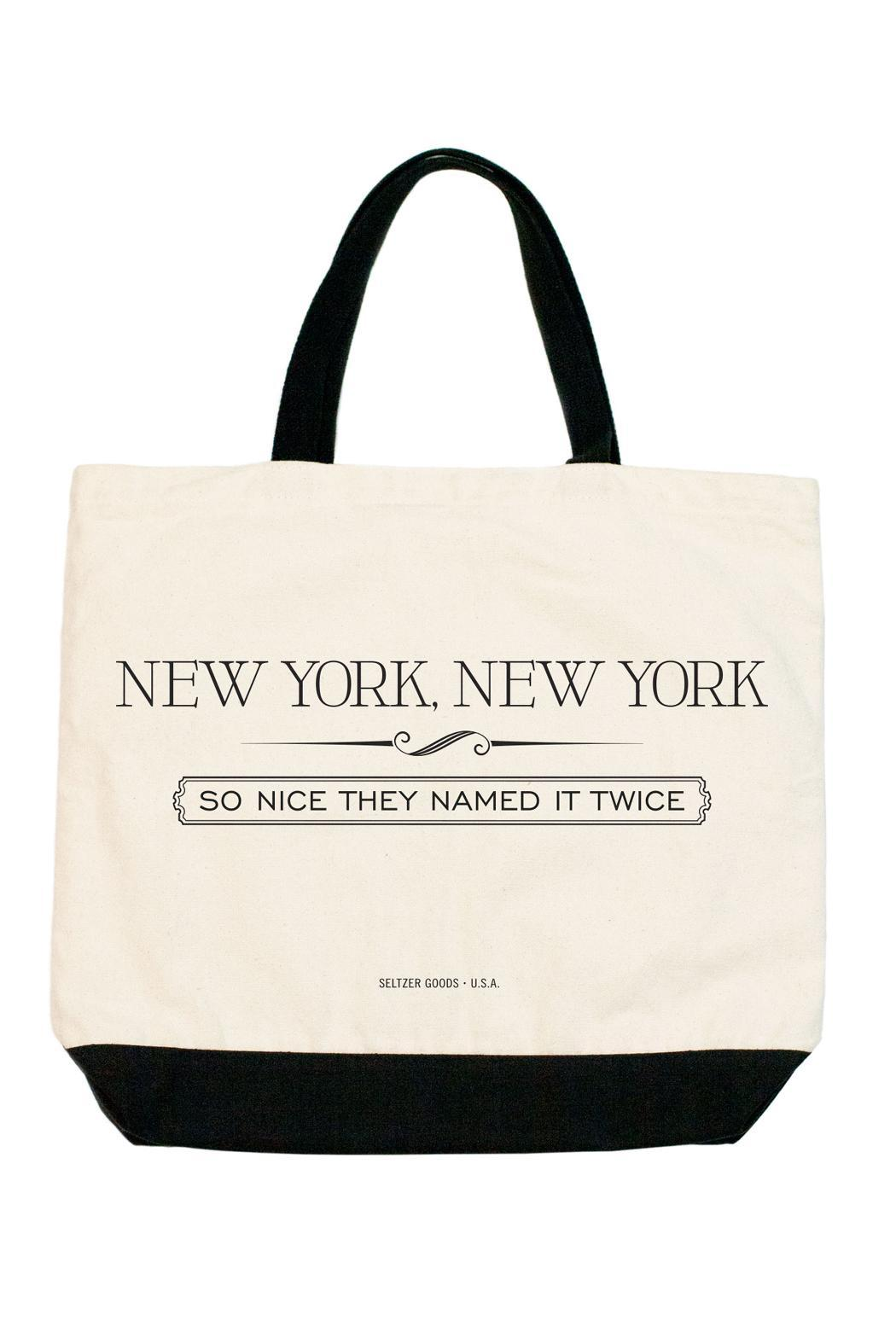 Seltzer Goods New York Tote - Front Cropped Image