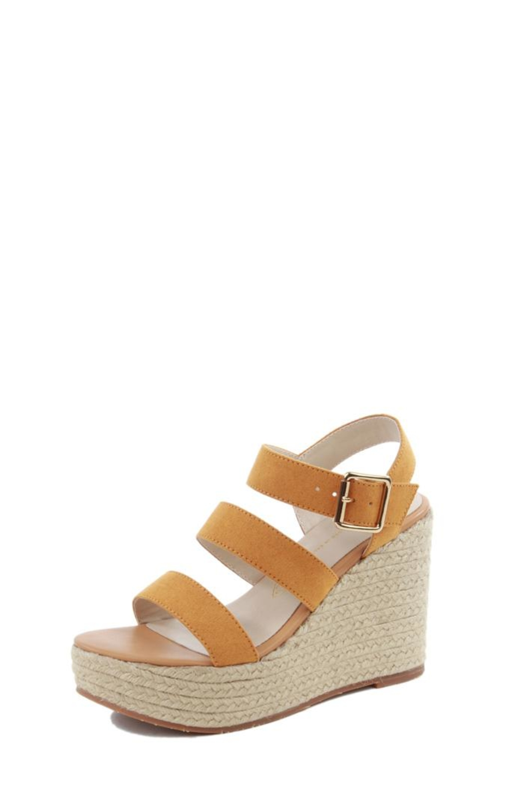BC Footwear Mustard Wedges - Front Cropped Image