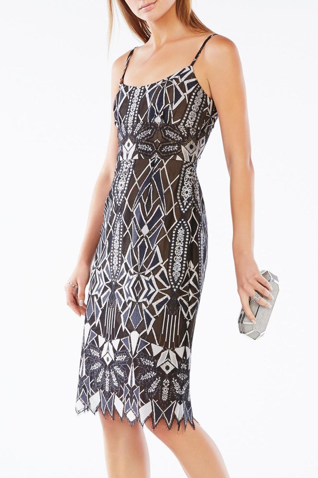 BCBG Max Azria Alese Lace Dress - Front Full Image