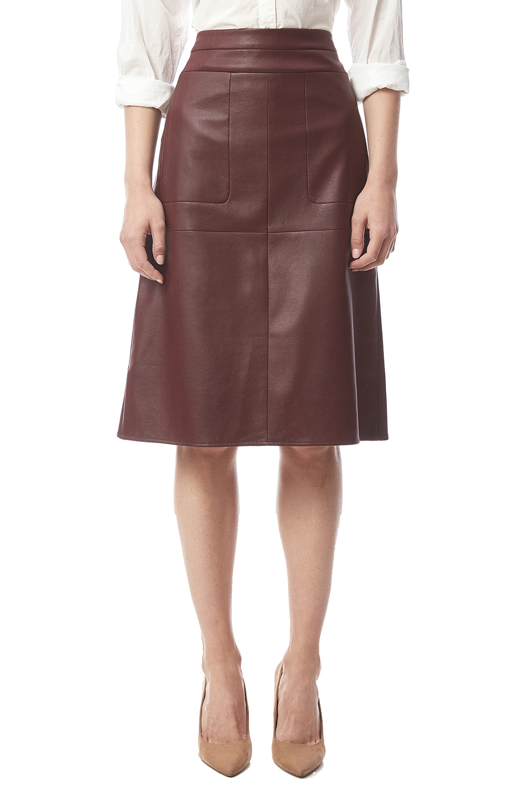 bcbg max azria faux leather a line skirt from by