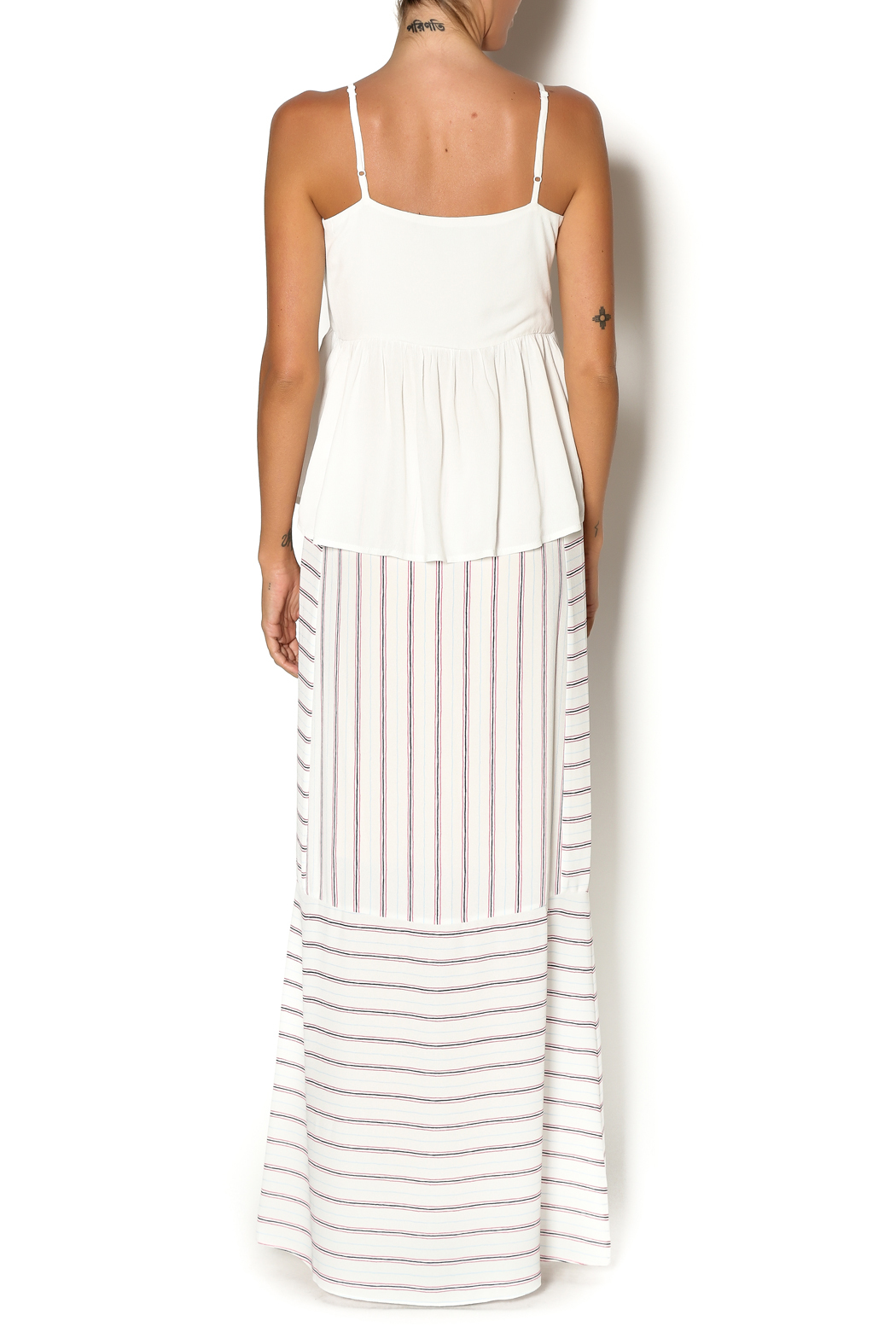 bcbg max azria white haleigh maxi from new york by leelee