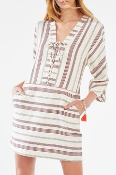 Shoptiques Product: Striped Lace-Up Tunic