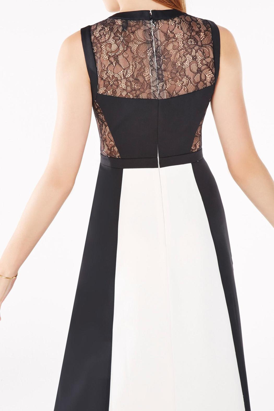 BCBG Max Azria Black & Off-White Evening Gown from Georgia by High ...