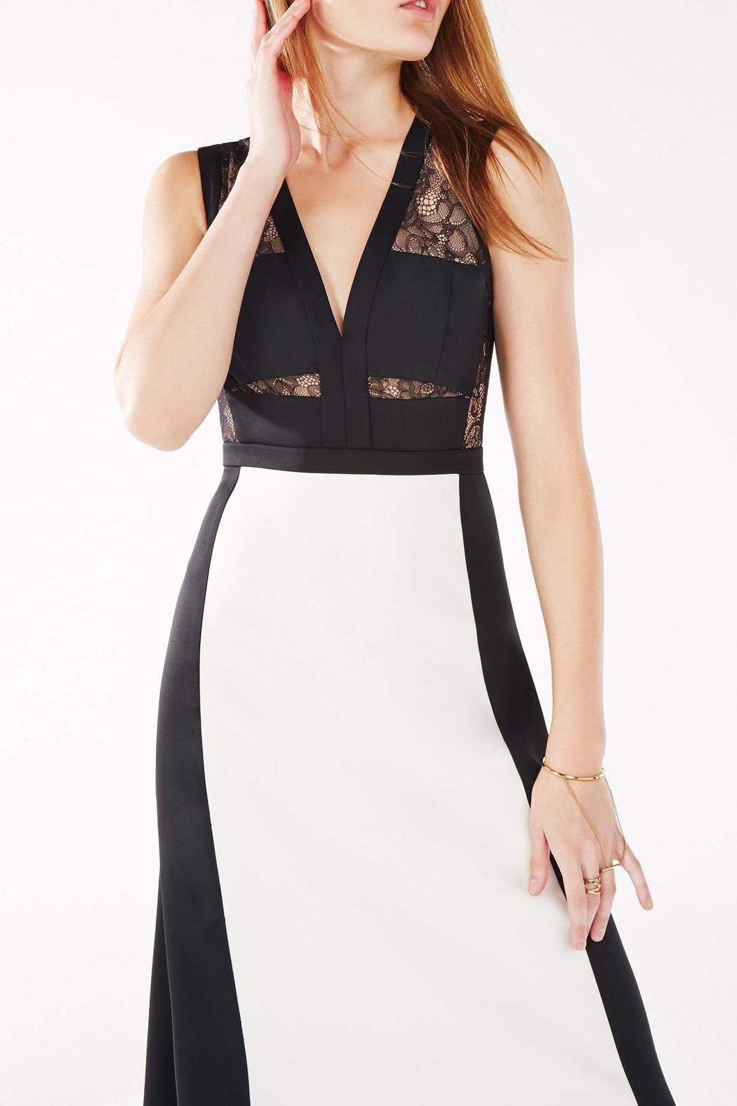 Bcbg Max Azria Black Amp Off White Evening Gown From Georgia