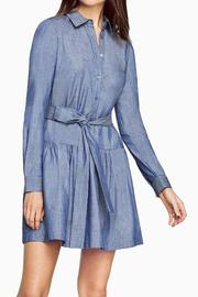 BCBG Max Azria Chambray Twill Dress - Front cropped