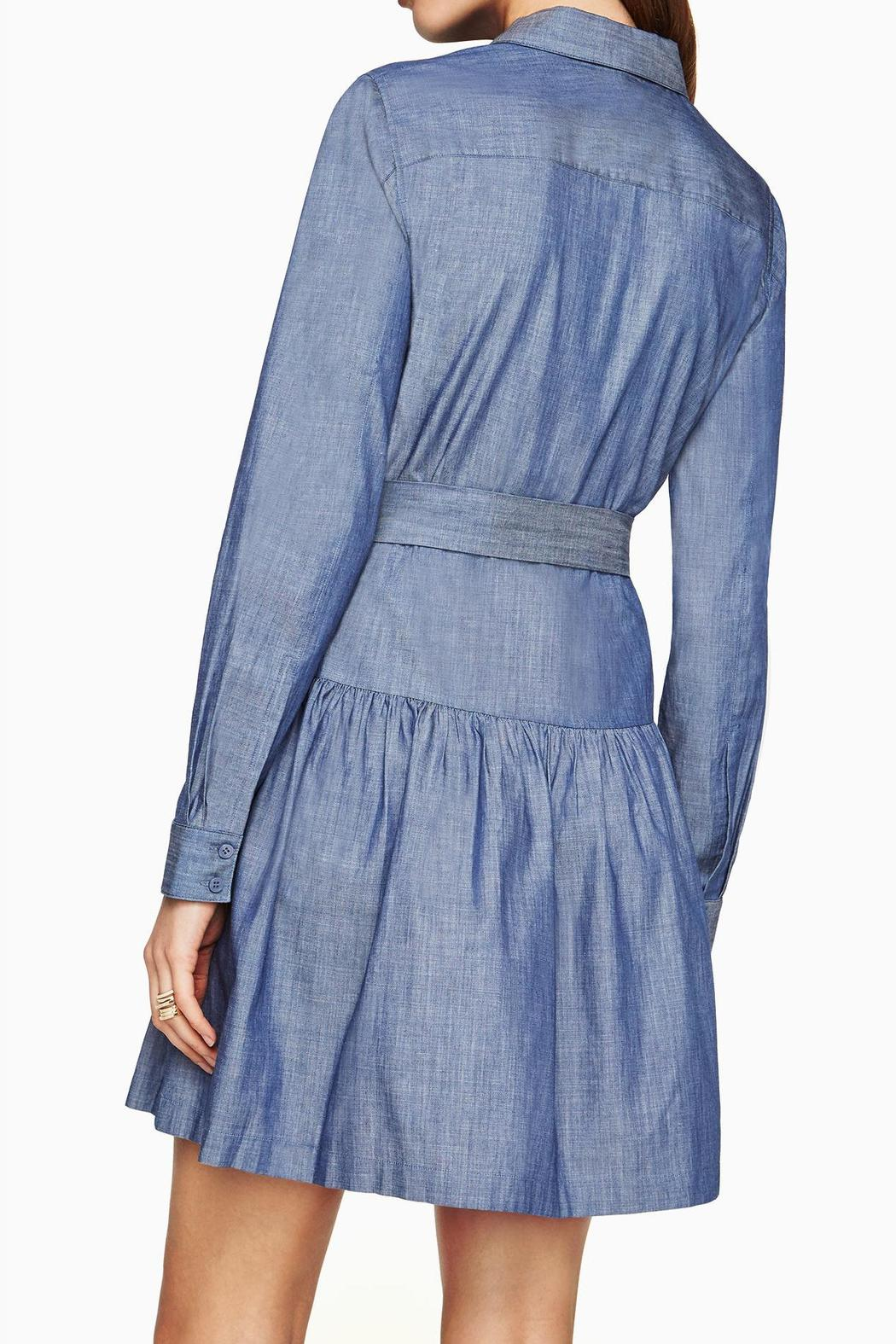 BCBG Max Azria Chambray Twill Dress - Front Full Image