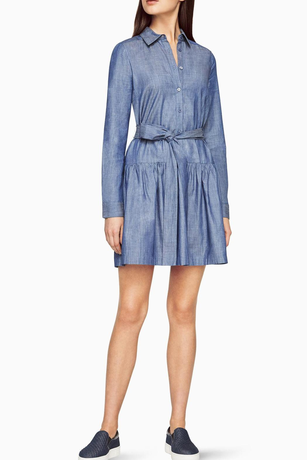 BCBG Max Azria Chambray Twill Dress - Side Cropped Image