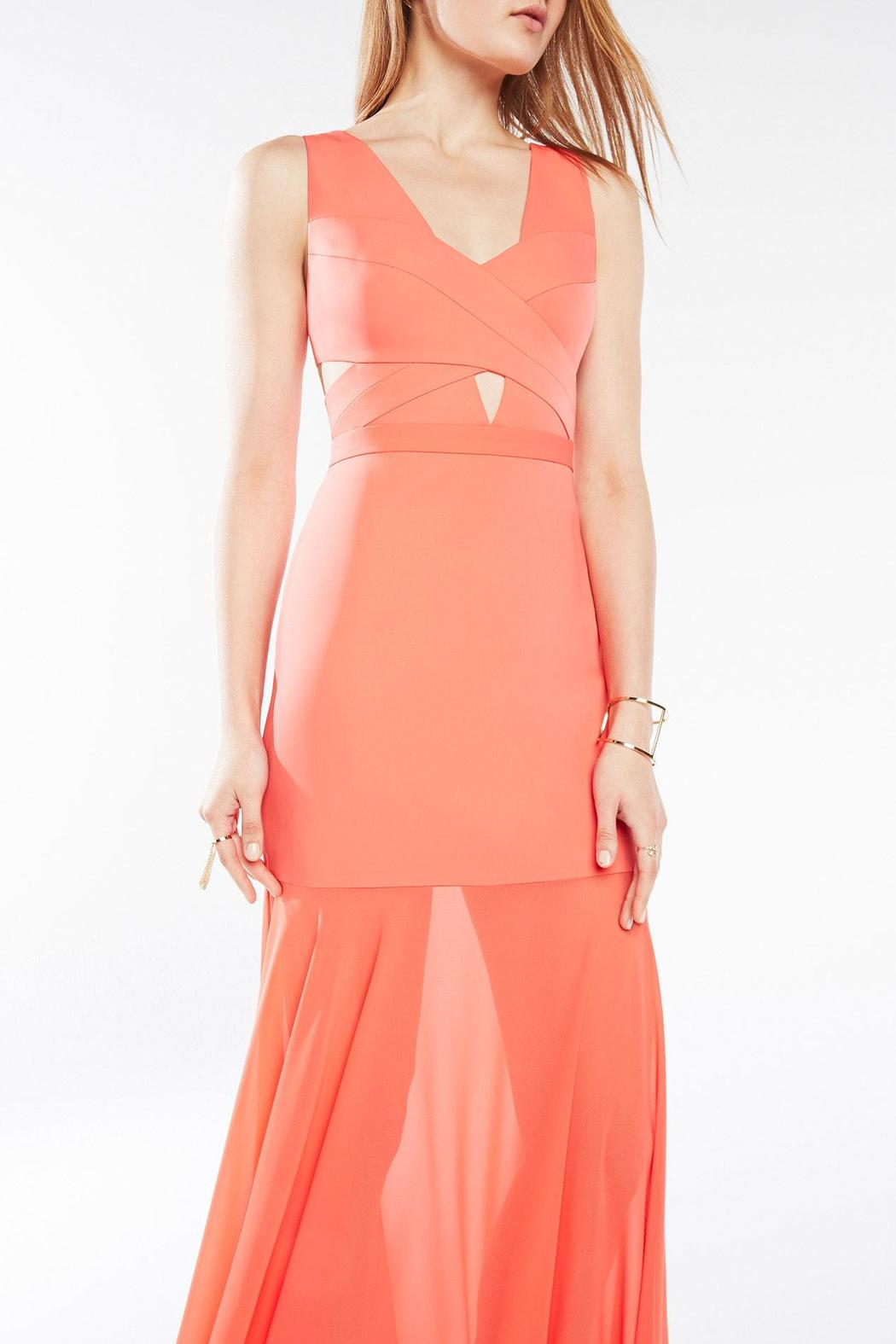 Bcbg Max Azria Coral Cutout Gown From Back Bay By Max