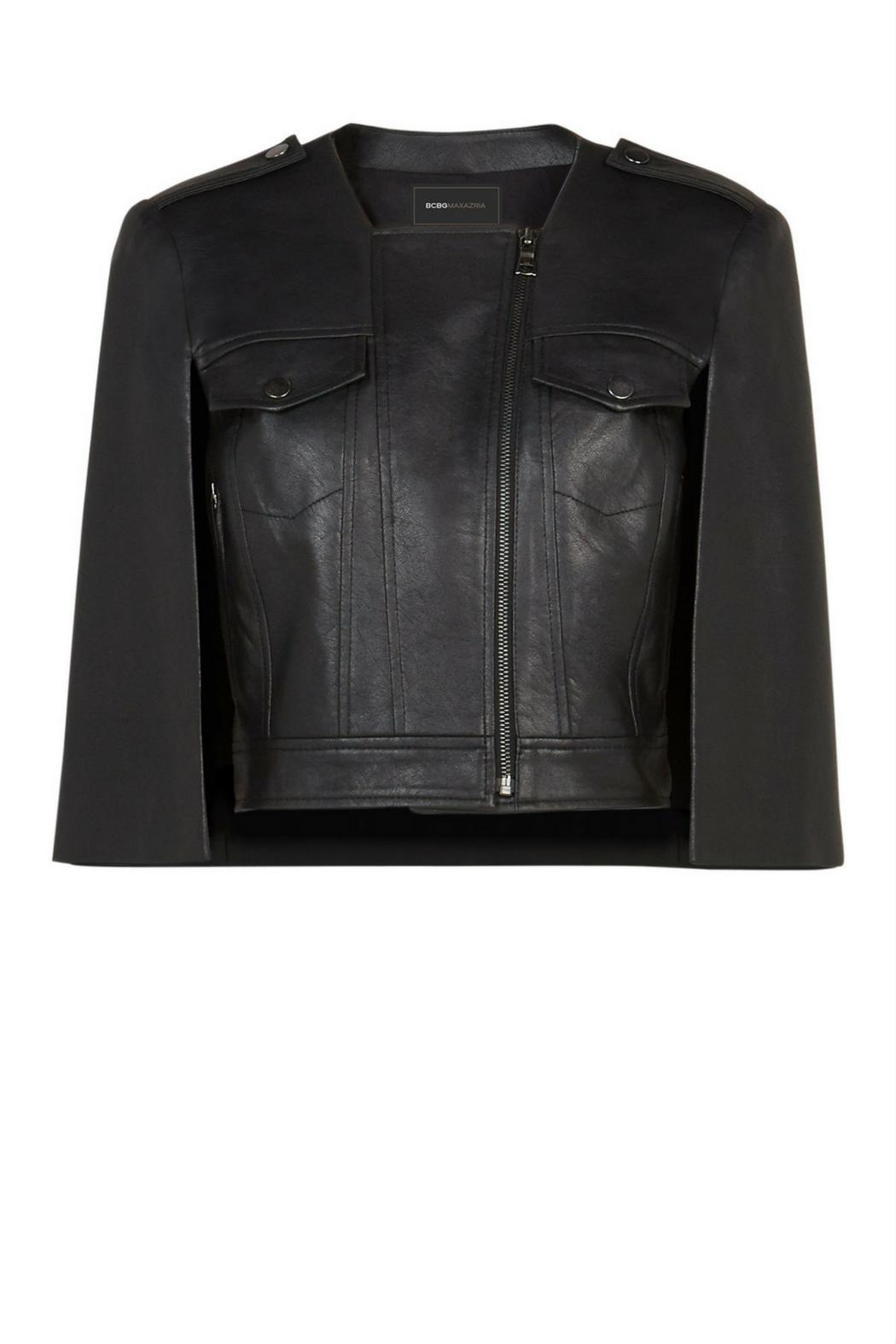 Bcbg Max Azria Cropped Faux Leather Cape From Orlando By