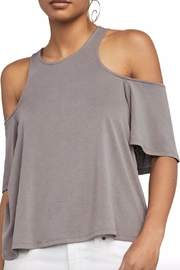BCBG Max Azria Kelsey Cold Shoulder Top - Front cropped