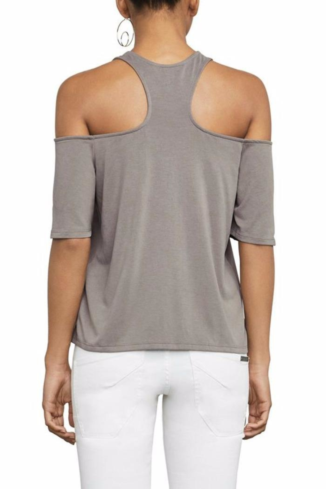 BCBG Max Azria Kelsey Cold Shoulder Top - Front Full Image