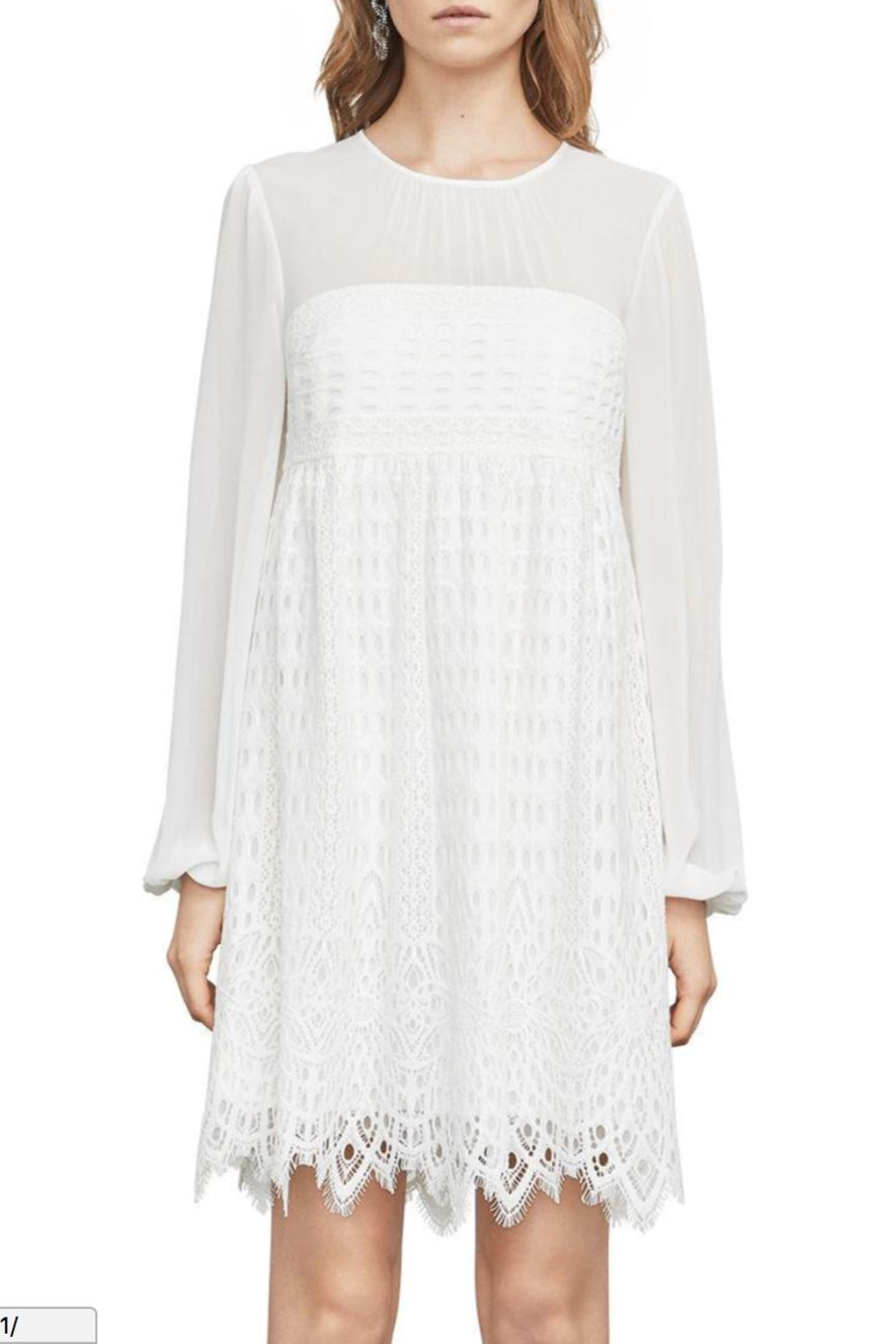 BCBG Max Azria Lace Dress - Front Cropped Image