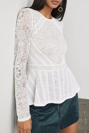 BCBG Max Azria Lace Peplum Top - Side cropped