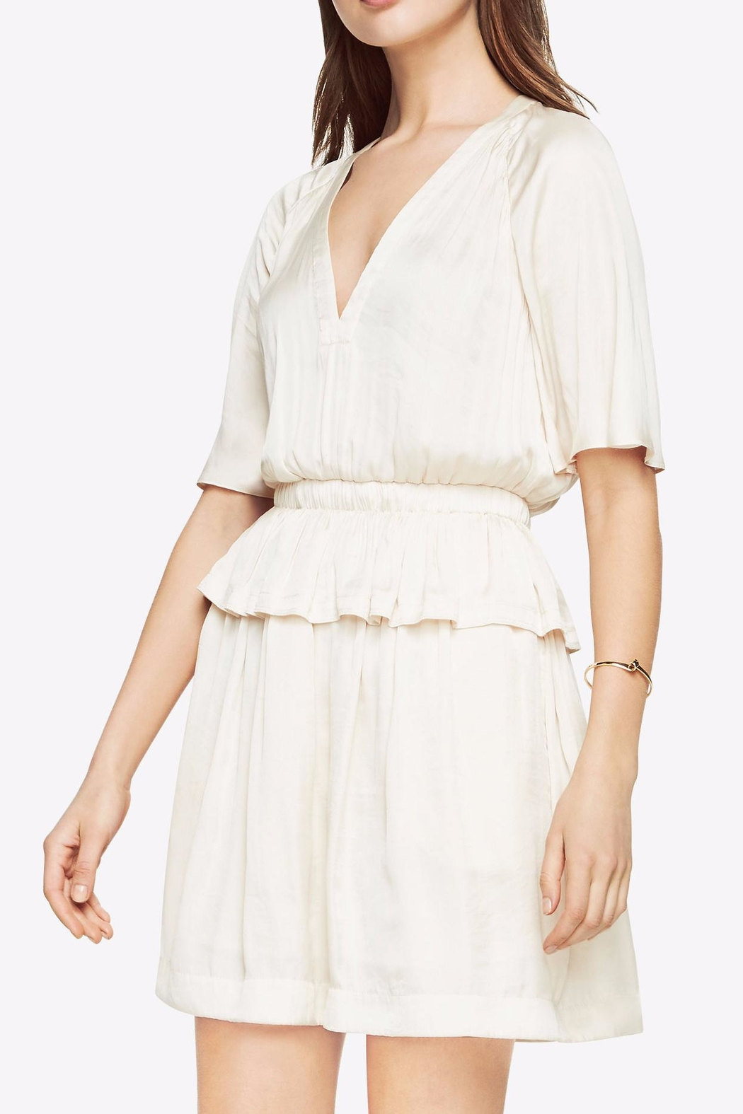 BCBG Max Azria Lourie Peplum Dress - Front Cropped Image