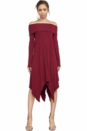 BCBG Max Azria Off-The-Shoulder Knit A-Line - Product Mini Image