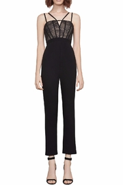 BCBG Max Azria Patrycia Lace-Bodice Jumpsuit - Front cropped