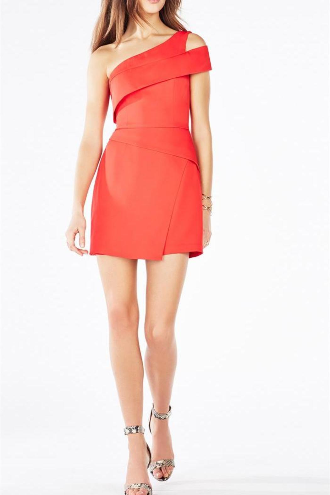 BCBG Max Azria Red One-Shoulder Dress from Back Bay by Max & Riley ...