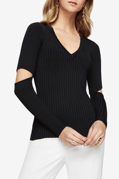 Shoptiques Product: Ribbed Black Sweater