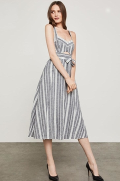 BCBG Max Azria Striped Cutout Sundress - Product List Image