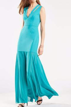 BCBG Max Azria Teal Fitted Gown - Product List Image