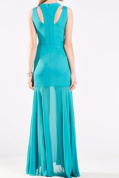 BCBG Max Azria Teal Fitted Gown - Alternate List Image