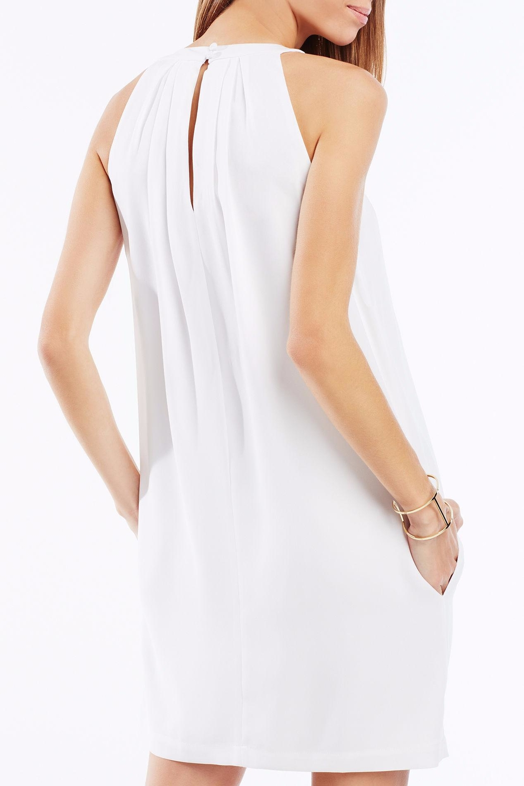 BCBG Max Azria Tristyn Pleated Halter - Front Full Image