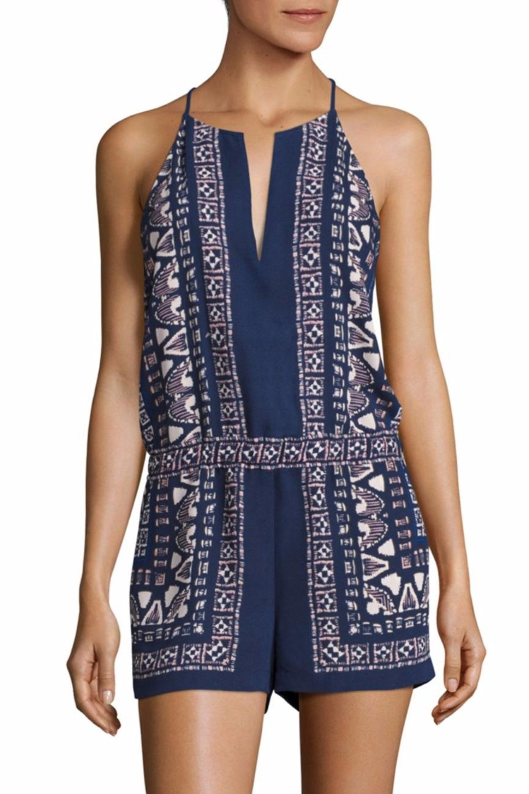 50b5c4afe BCBG Max Azria Tyra Scarf Print Romper from Texas by Queen Bee ...