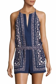 BCBG Max Azria Tyra Scarf Print Romper - Front cropped