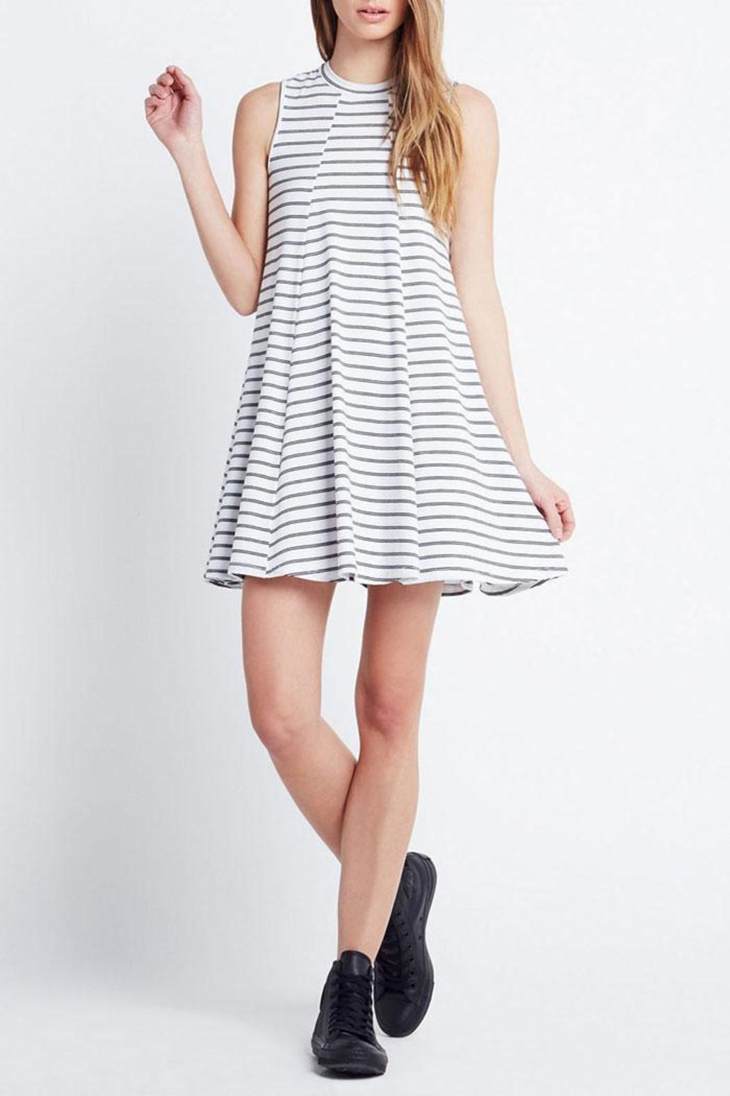 BCBGeneration A-Line Stripe Dress - Front Cropped Image