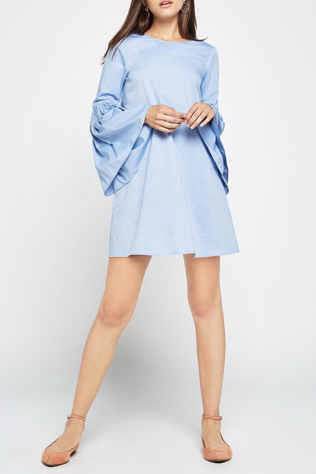 BCBGeneration Chambray Bell A-line Dress - Main Image