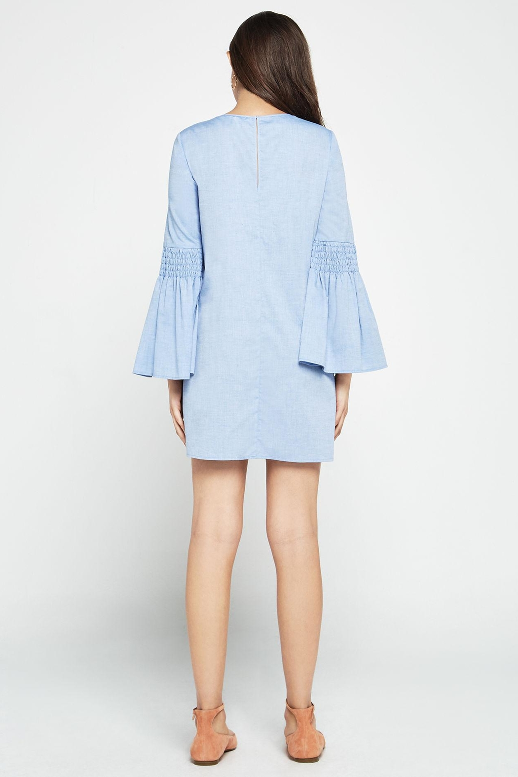 BCBGeneration Chambray Bell A-line Dress - Side Cropped Image