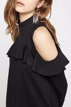 BCBGeneration Cold-Shoulder Mock-Turtleneck Dress - Alternate List Image