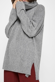 BCBGeneration Cowl-Neck Cotton Sweater - Front cropped