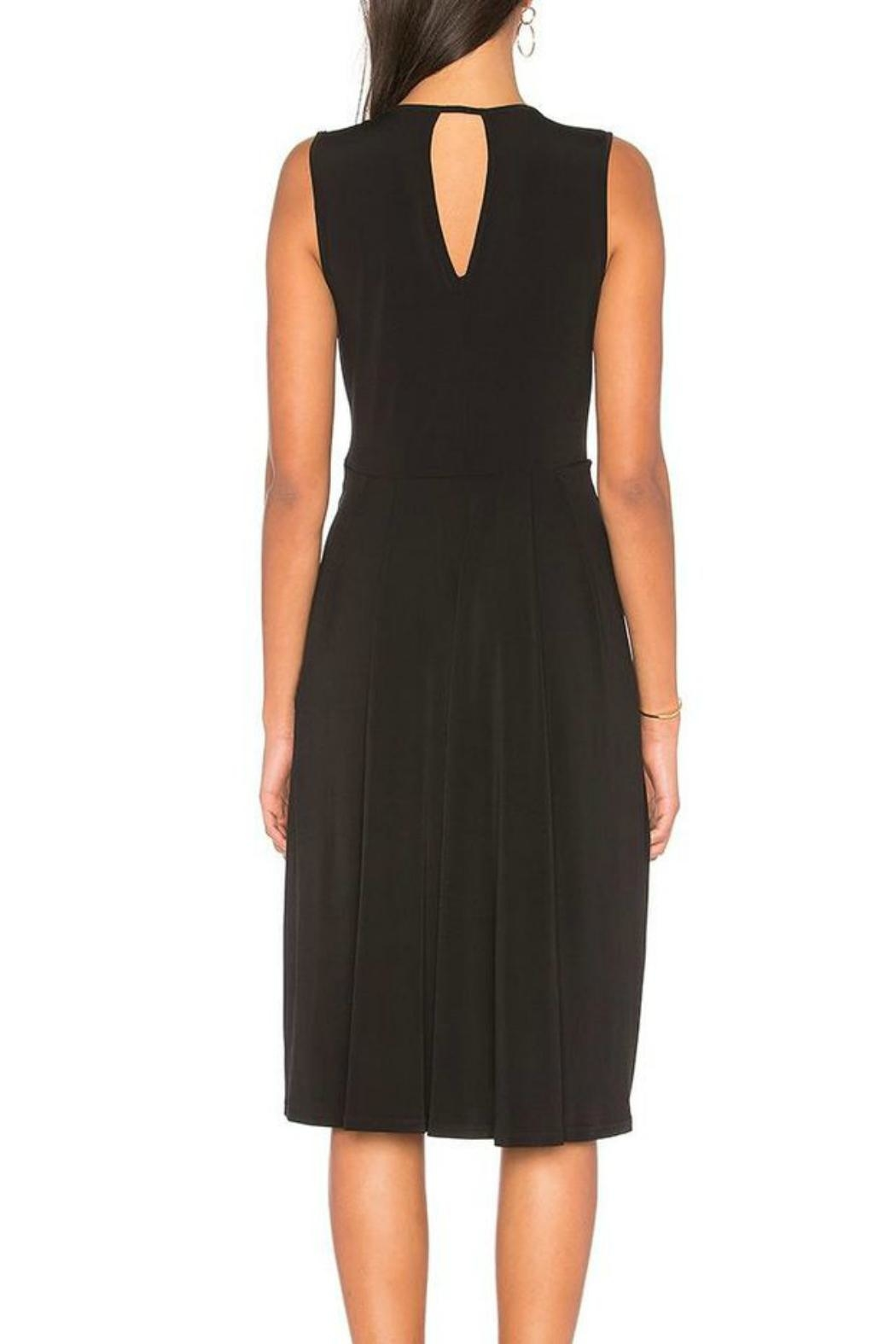 BCBGeneration Drape Midi Dress - Front Full Image