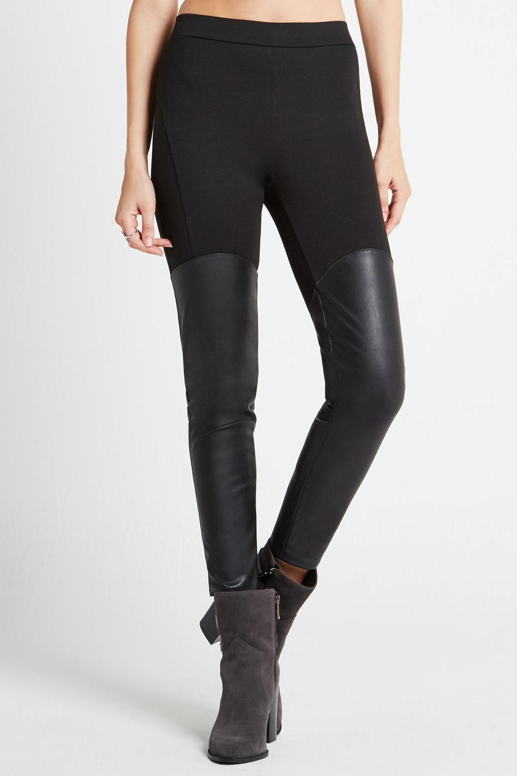 Bcbgeneration Faux Leather Panel Legging From Hudson Valley By Bfree Shoptiques