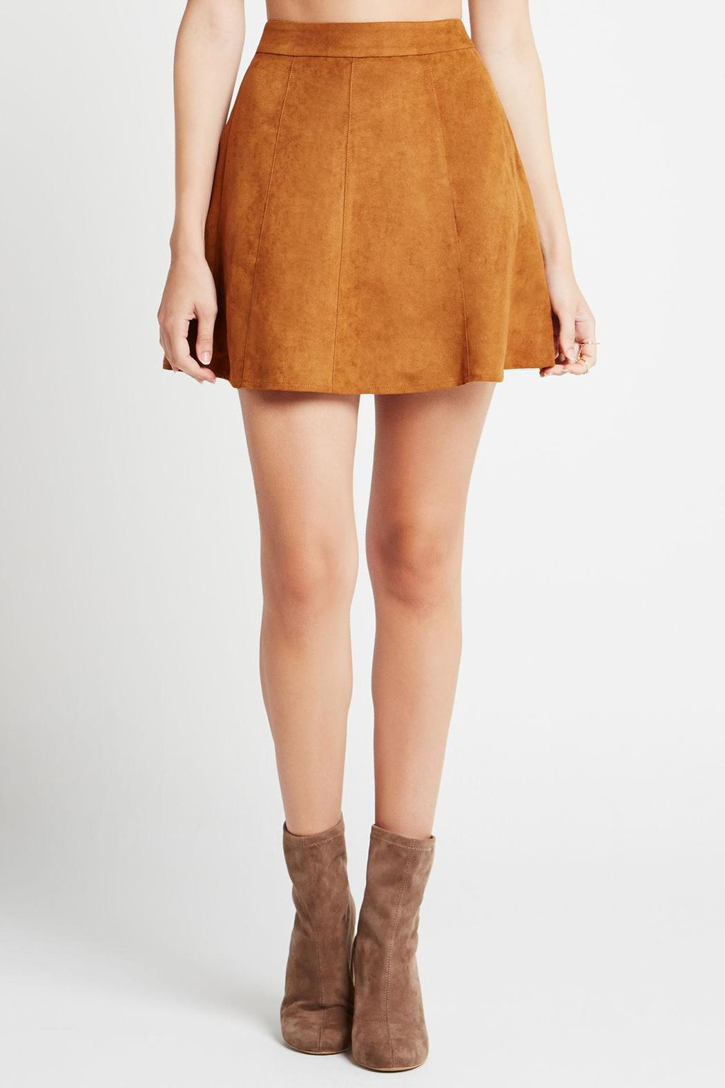 BCBGeneration Faux Suede Skirt from Georgia by High ...