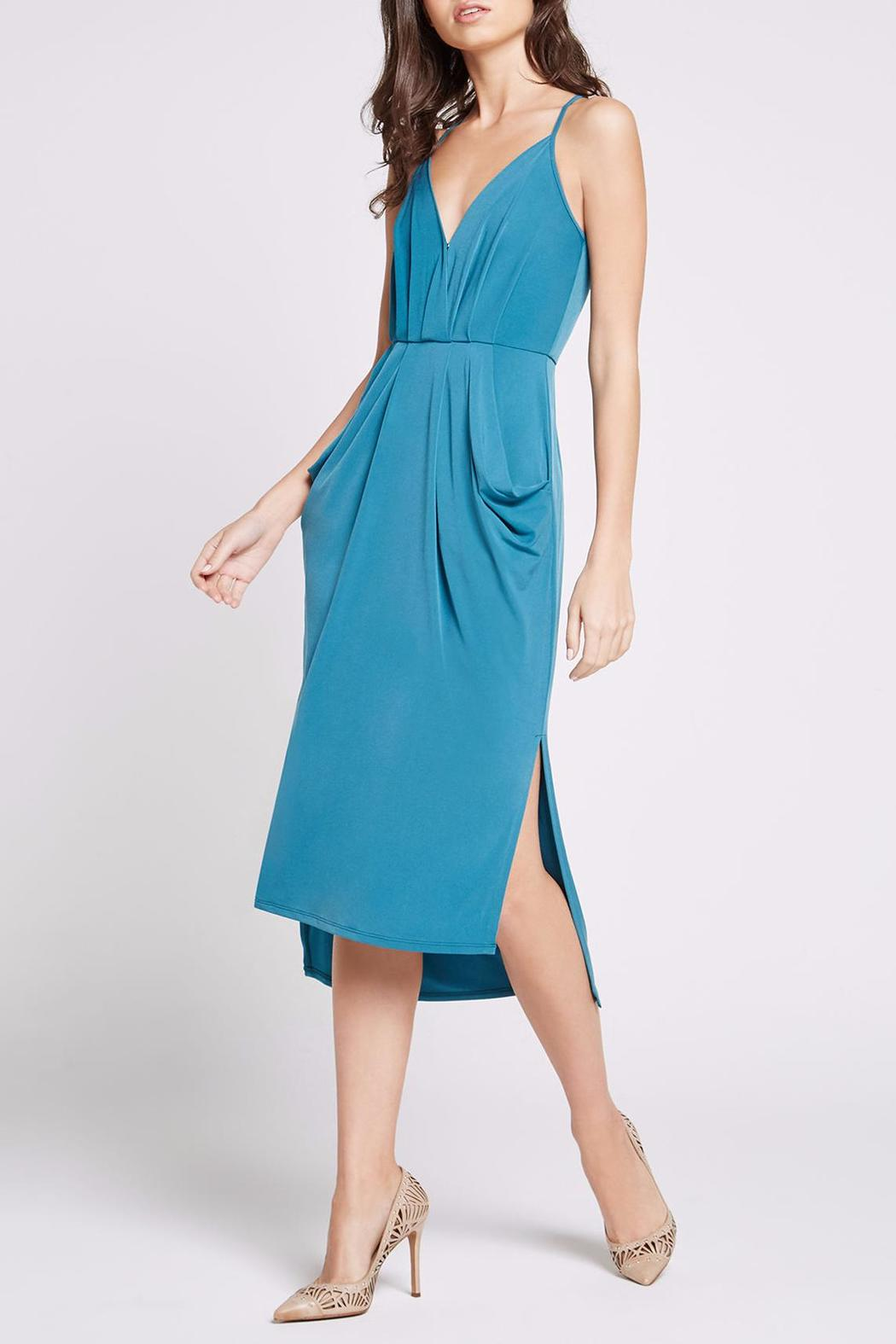 BCBGeneration Faux Wrap Midi Dress - Main Image